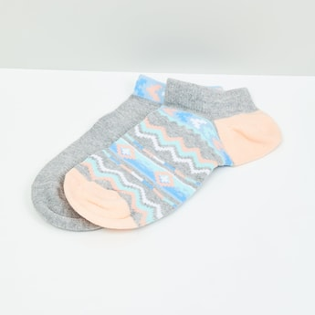 MAX Patterned Ankle-Length Socks - Set of 2- 10-12 Y