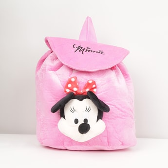 MAX Solid Backpack with Mickey Mouse Applique