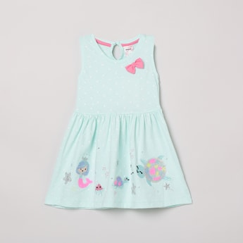 MAX Embellished A-Line Dress with Bow Detail