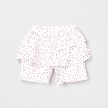 MAX Printed Tiered Layered Elasticated Shorts