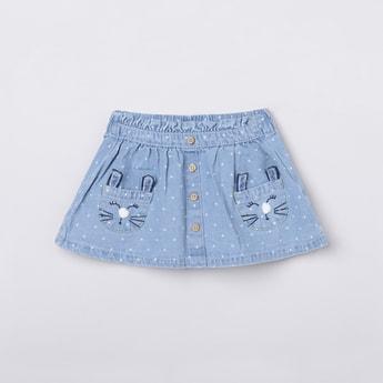 MAX Printed Elasticated A-Line Skirt