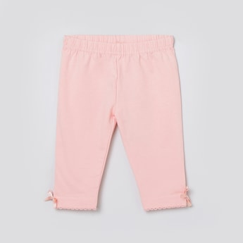 MAX Solid Bow Detailed Leggings