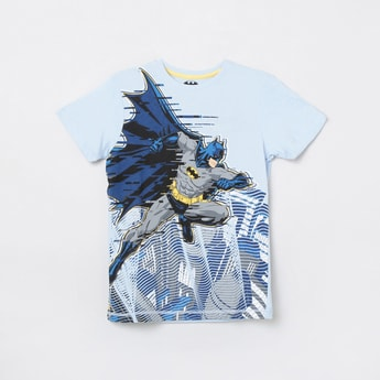 MAX Batman Print Crew Neck T-shirt