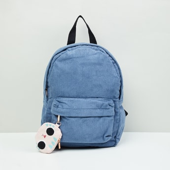 MAX Textured Zip-Closure Backpack