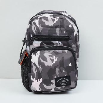 MAX Camouflage Printed Zip-Closure Backpack