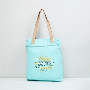 MAX Typographic Print Tote Bag