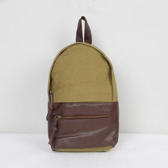 MAX Colourblocked Zip-Closure Backpack