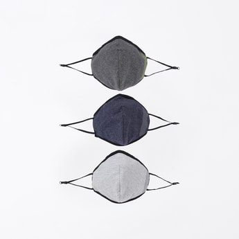 MAX Solid Face Mask- Set of 3