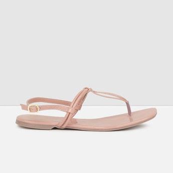 MAX Solid Sling Back Flat Sandals
