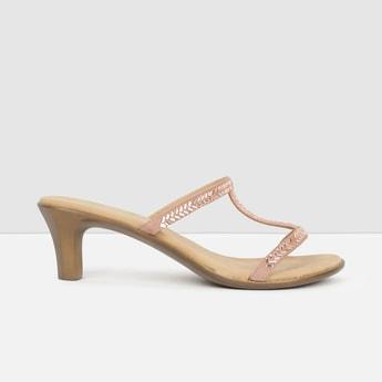MAX Embellished Open-Toe Heels
