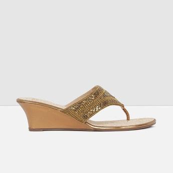 MAX Embellished Slip-On Wedge Heels
