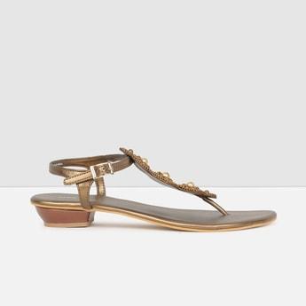 MAX Embellished Back-Strap Sandals