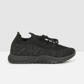 MAX Mesh Panelled Detail Lace-Up Shoes
