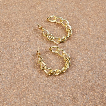 MAX Twisted Detailed Semi Hoops