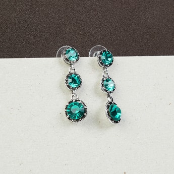 MAX Stone Studded Drop Earrings