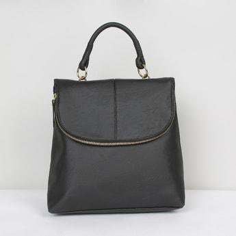 MAX Solid Zip-Closure Backpack