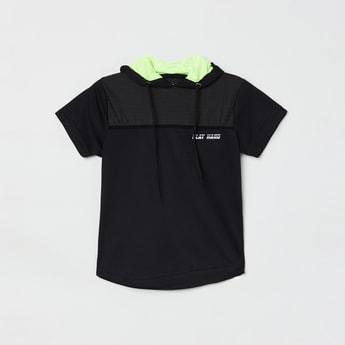 MAX Printed Short Sleeeves Hooded T-shirt