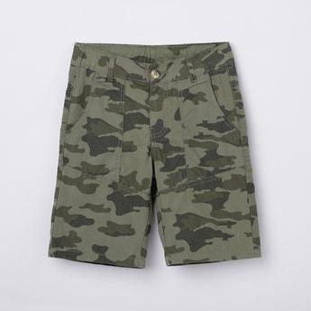 MAX Camouflage Print Woven Bermuda Shorts