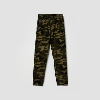MAX Camouflage Print Elasticated Cargo Trousers