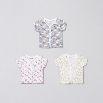 MAX Printed Front Open Vest- Pack of 3
