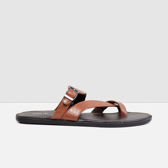 MAX Textured Thong Strap Sandals