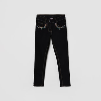 MAX Slim Embroidered Jeans