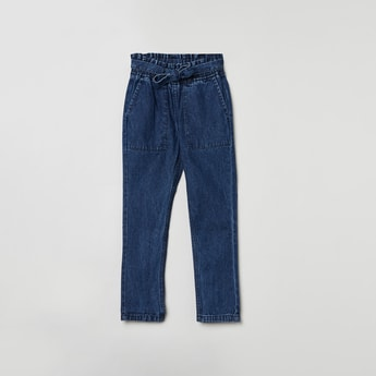 MAX Medium Washed Tie-Up Waist Jeans