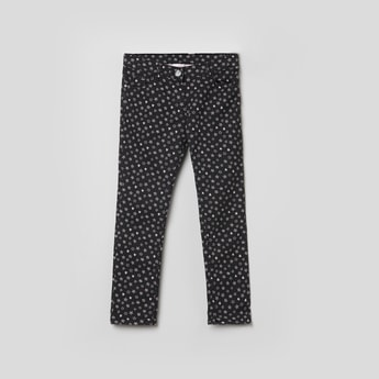 MAX Printed Woven Full-Length Trousers