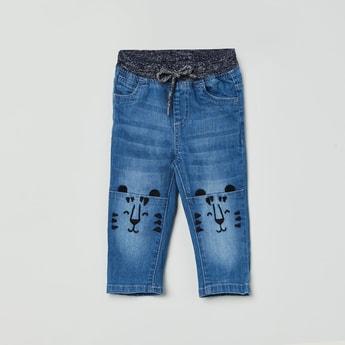 MAX Printed Slim Fit Denim Jeans