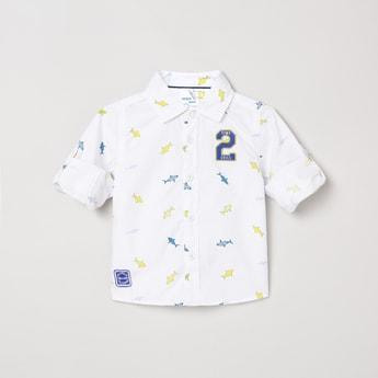 MAX Printed Full-Sleeves Shirt
