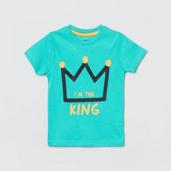 MAX Typographic Print Crew Neck T-shirt