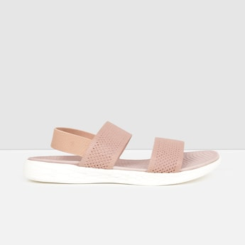 MAX Textured Sling Back Flat Sandals