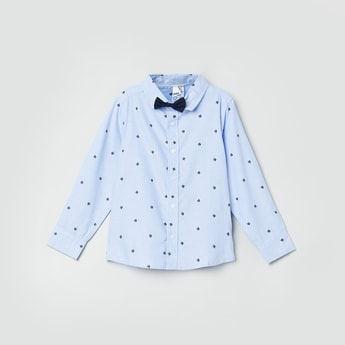 MAX Printed Full Sleeves Shirt with Bow Tie