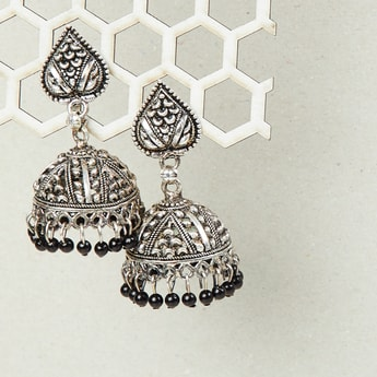 MAX Embossed Jhumkas with Stone Embellishments