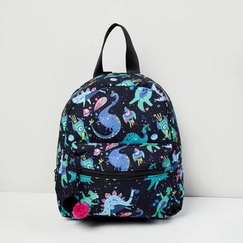 MAX Printed Zip Closure Backpack