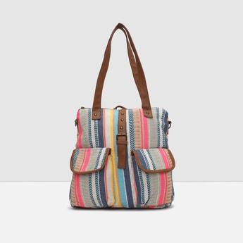 MAX Printed Zip Closure Handbag