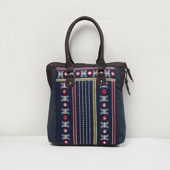 MAX Mirror Embellished Tote Bag