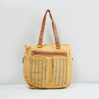 MAX Jacquard Pattern Shoulder Bag