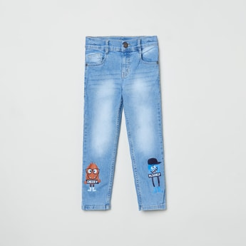 MAX Distressed Stonewashed Slim Fit Jeans