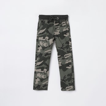 MAX Camouflage Print Woven Trousers