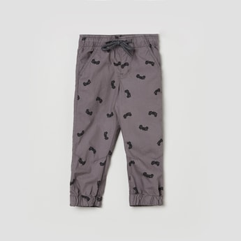 MAX Printed Full-Length Trousers
