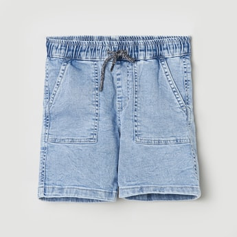 MAX Solid Woven Elasticated Shorts
