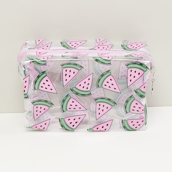 MAX Watermelon Print Transparent Cosmetic Bag