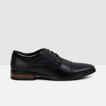 MAX Solid Lace-Up Derby Semi-Formal Shoes
