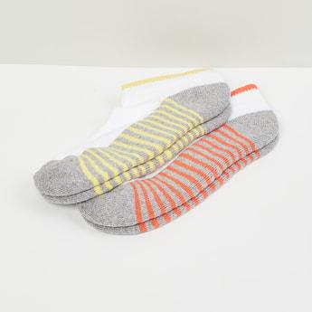 MAX Striped Ankle-Length Socks- Set of 2