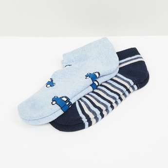 MAX Printed Ankle-Length Socks-Set of 2