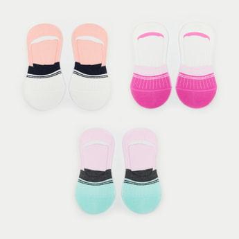 MAX Colour-Blocked Footlet Socks - Set of 3