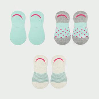MAX Printed No-Show Socks - Set of 3