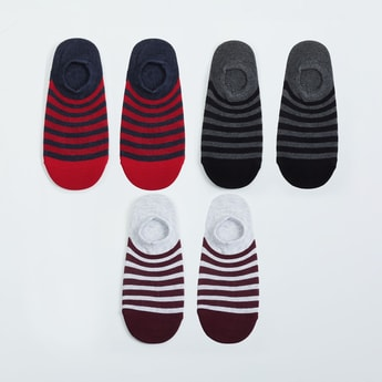 MAX Striped Ankle Length Socks -Pack of 3