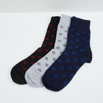 MAX Printed Calf Length Socks - Pack Of 3